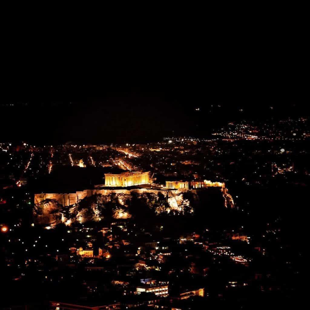 Greece - Athens - The Acropolis at Night