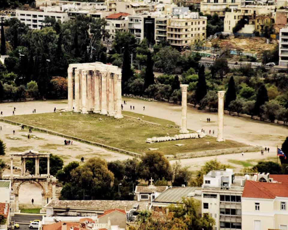 Greece - Athens - Temple of Olympian Zeus