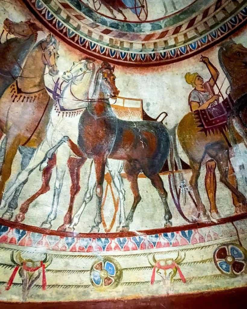 Bulgaria - Kazanlak - Detail from the Thracian Tomb of Kazanlak