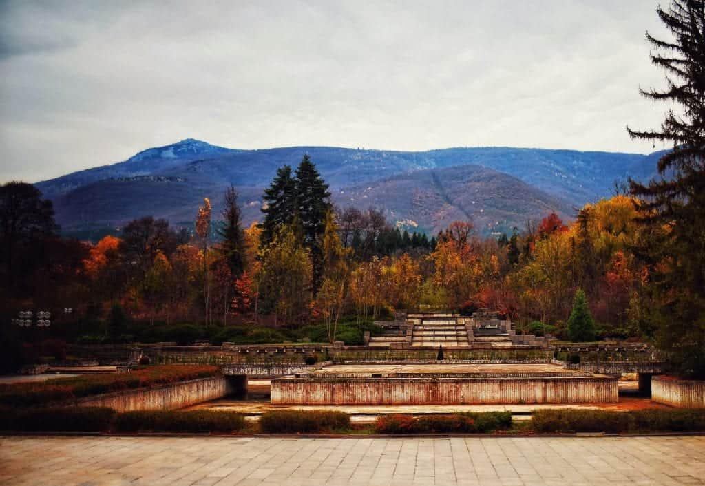 Bulgaria - Sofia - View of Mount Vitosha from the National Historical Museum