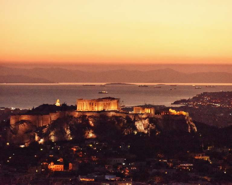 Greece - Athens - The Acropolis at Sunset