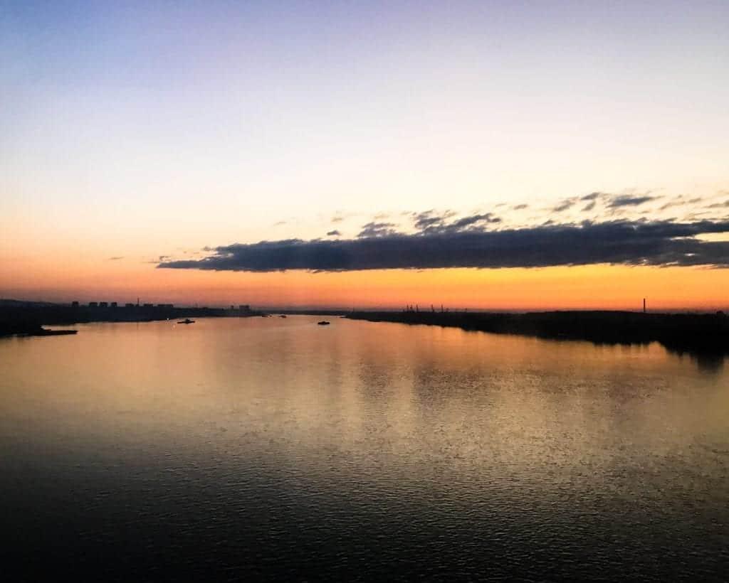 Bulgaria - Ruse - Crossing the Danube from Romania into Bulgaria