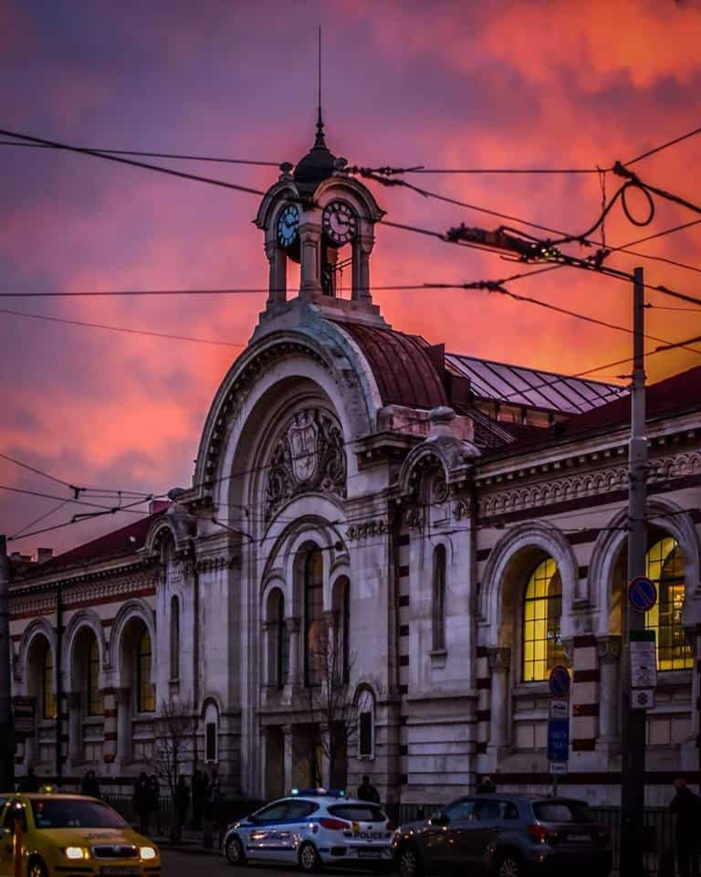 Bulgaria - Sofia - Central Market Hall sunset