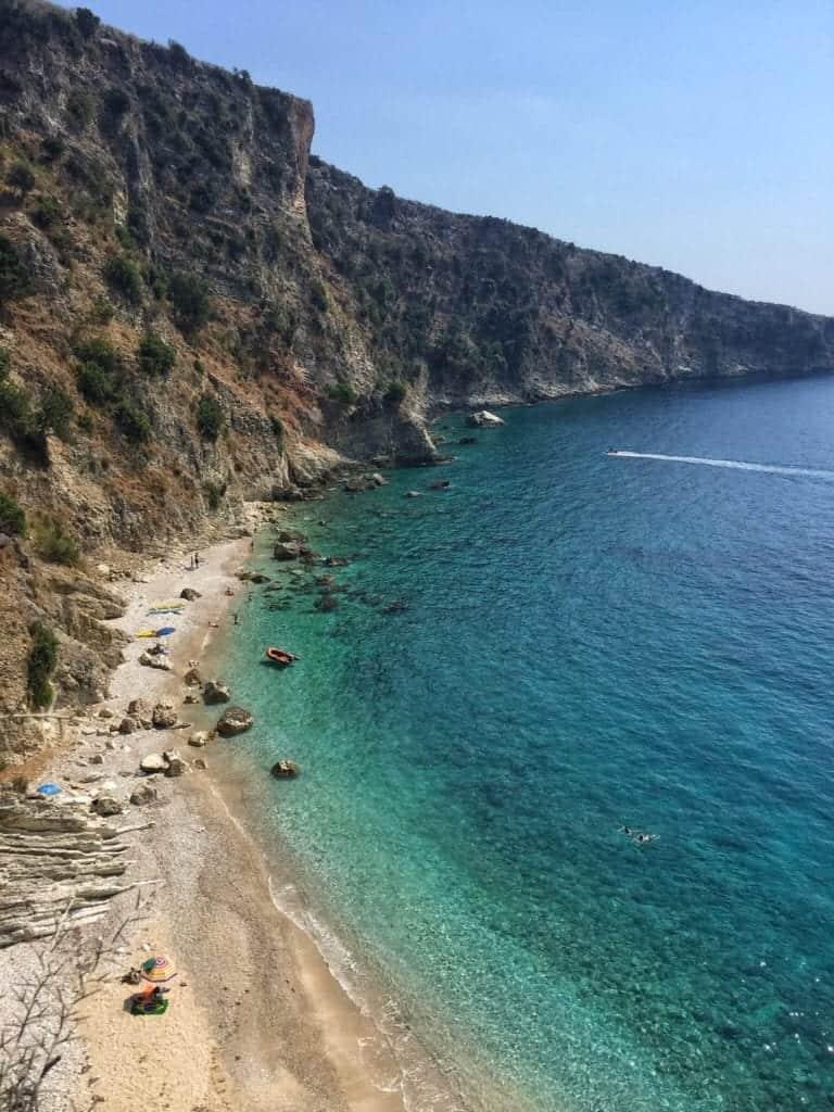 Albania - Himara - hidden beach