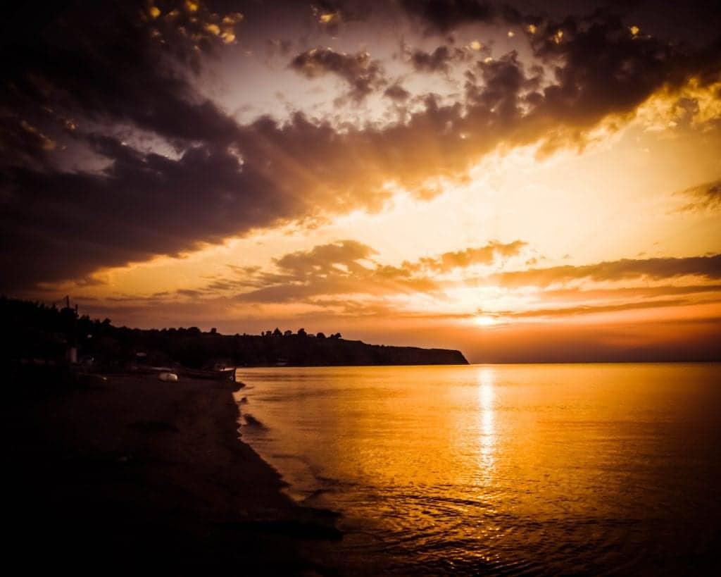 Greece - Agia Triada - Sunset