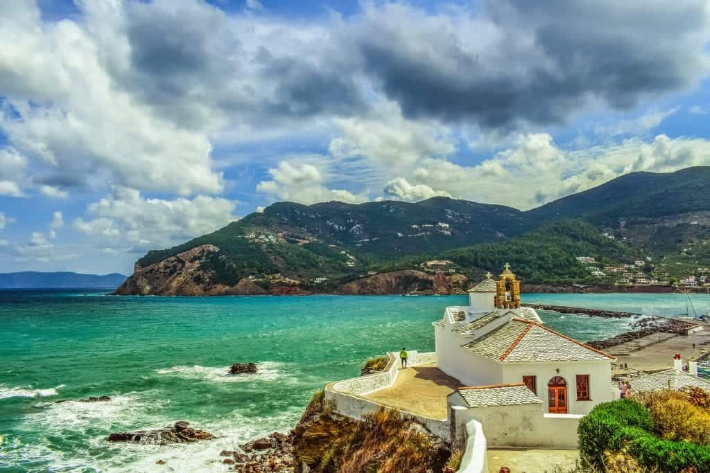 Greece - Skopelos - Church on the Beach - Pixabay