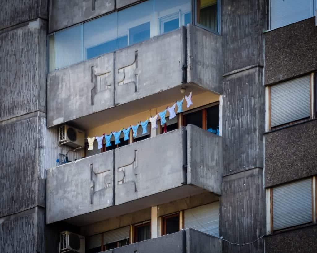 Serbia - Belgrade - Novi Beograd Laundry Day