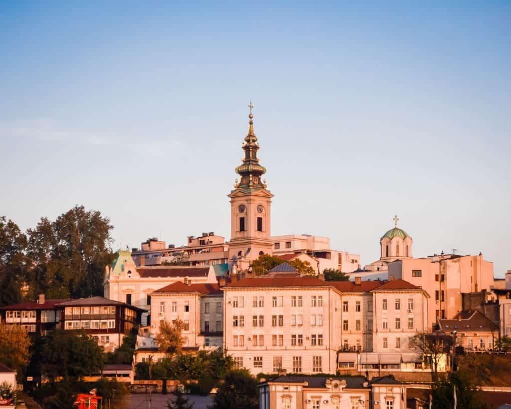 Serbia - Belgrade - Stari Grad from across the river