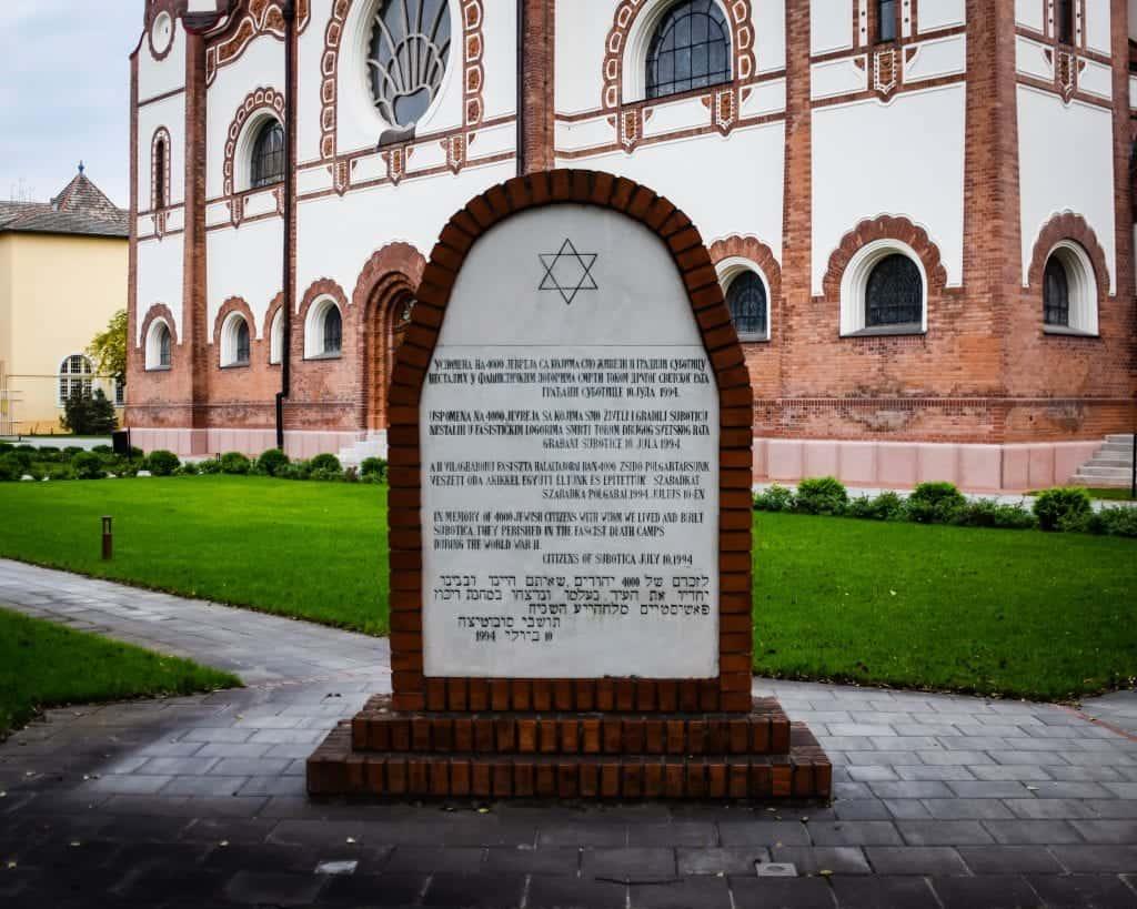 Serbia - Subotica - Synagogue Holocaust Memorial