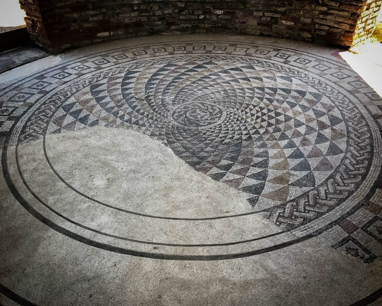 Serbia - Gamzigrad - Mosaics at the Palace of Galerius UNESCO World Heritage Site