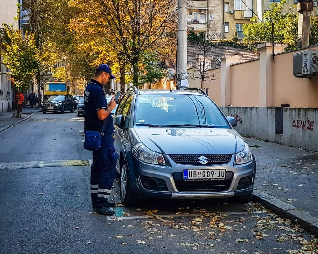 Serbia - Belgrade - Parking Ticket Driving Car