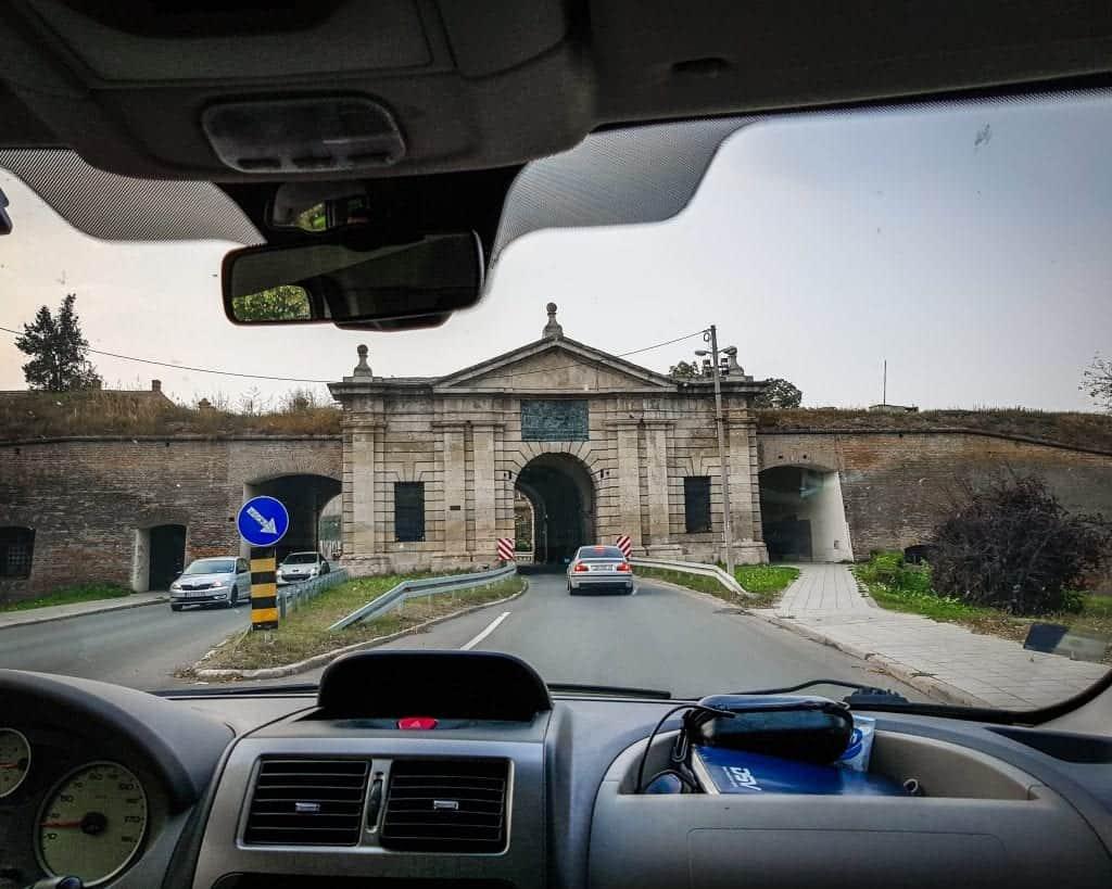 Serbia - Novi Sad - Driving through Belgrade Gate