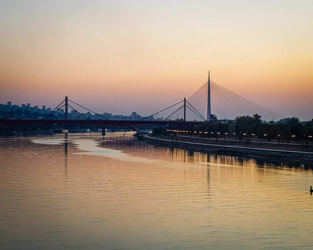 Serbia - Belgrade - Ada Bridge