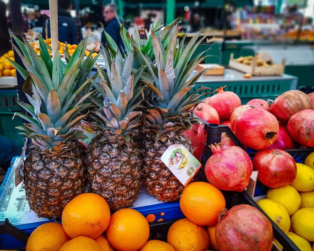 Serbia - Belgrade - Zeleni Venac Market - Pineapple