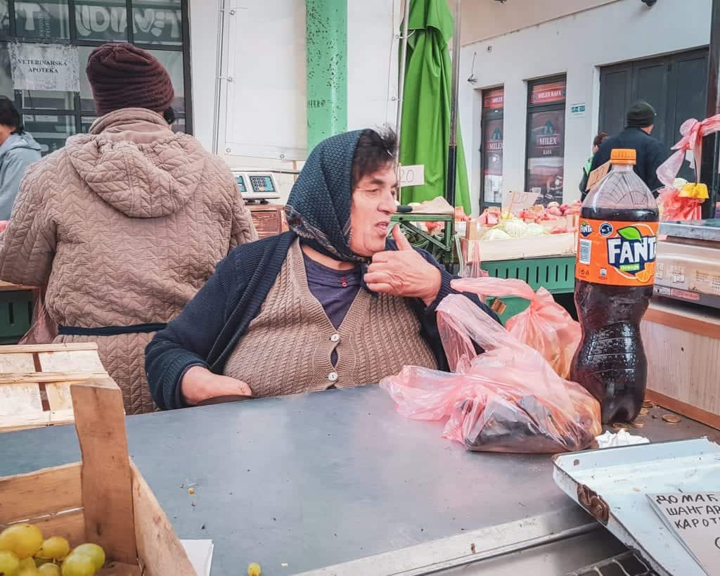 Serbia - Belgrade - Zeleni Venac Market - Woman
