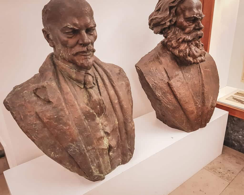 Serbia - Belgrade - House of Flowers and Museum of Yugoslavia Lenin and Marx Statues