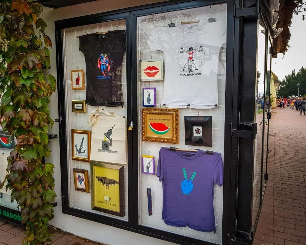 Serbia - Novi Sad - Gallery Souvenir Shop at Petrovaradin Fortress