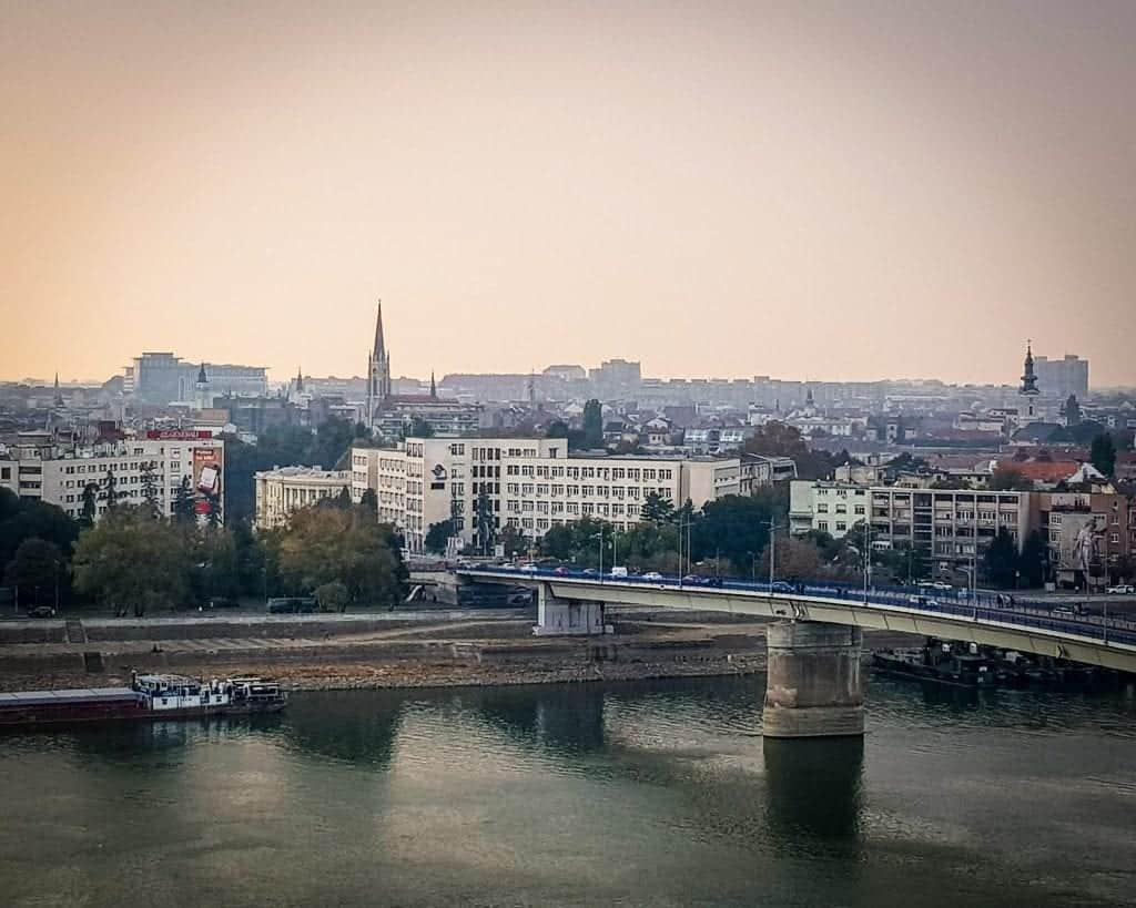 Serbia - Novi Sad - View of Novi Sad from the Petrovaradin Fortress