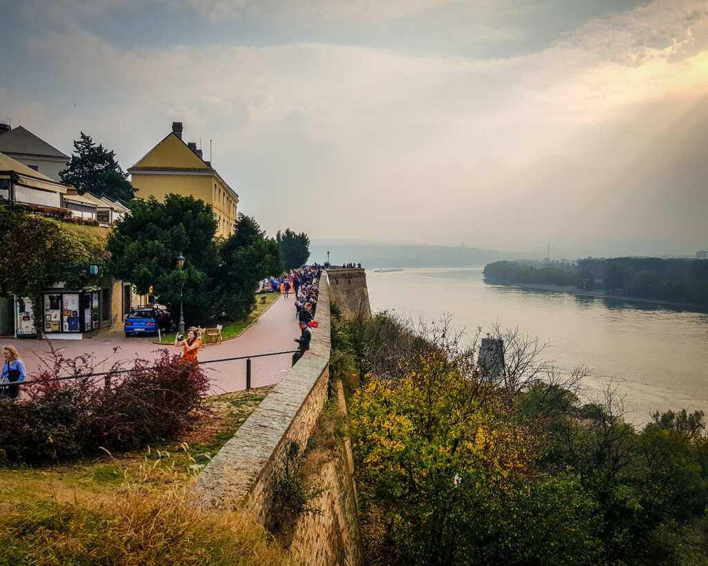 Serbia - Novi Sad - Petrovaradin Fortress View of Danube