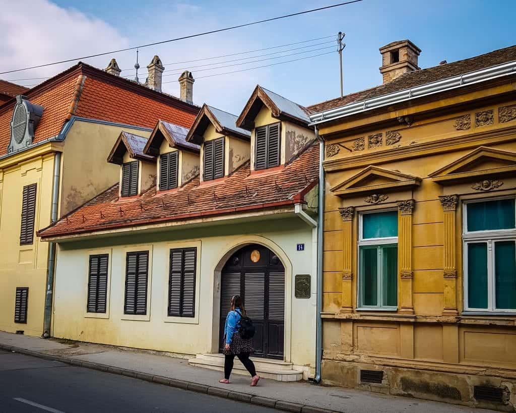 Serbia - Sremski Karlovci - Colorful Houses and Buildings Green Yellow Stephanie