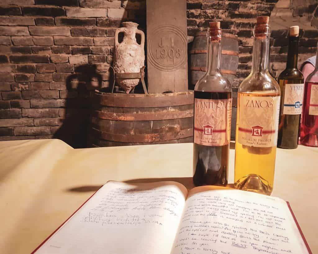 Serbia - Fruska Gora - Probus Winery Bermet Wine Bottles