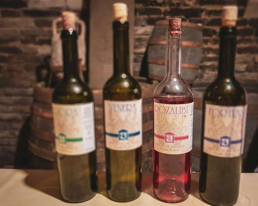 Serbia - Fruska Gora - Probus Winery Wine Bottles