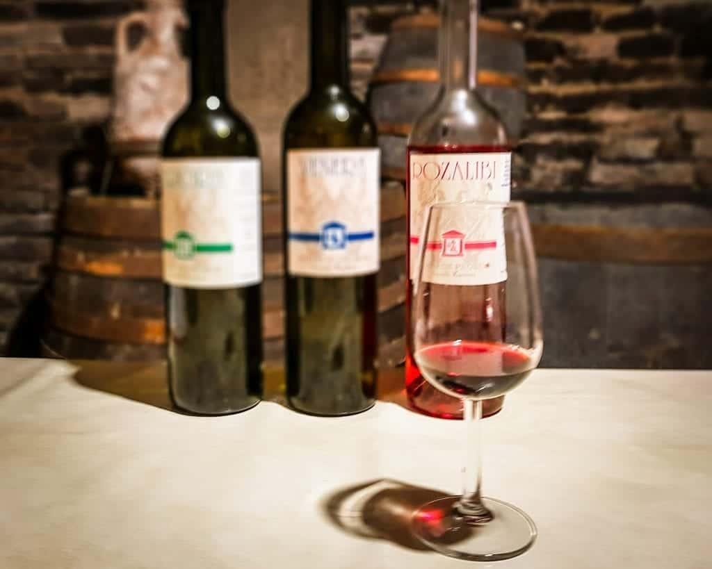 Serbia - Fruska Gora - Probus Winery Rose and Wine Bottles
