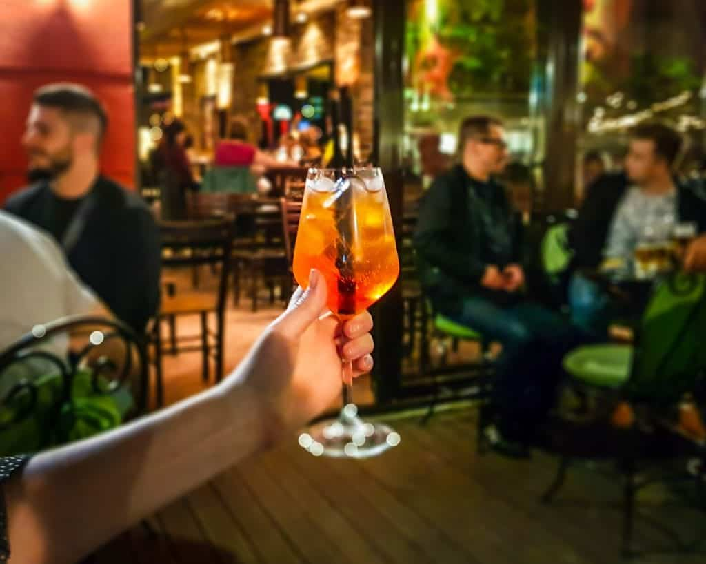 Serbia - Belgrade - Red Bar Aperol Spritz Drink