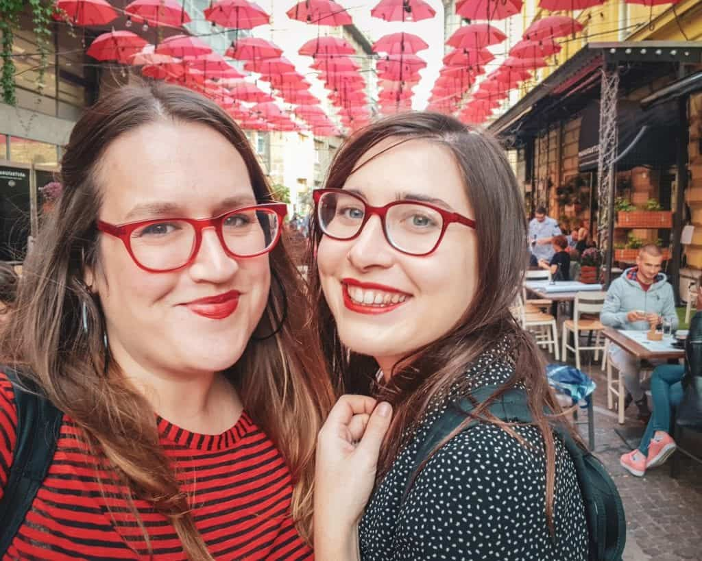 Serbia - Belgrade -Manufaktura Umbrellas Restaurant Selfie