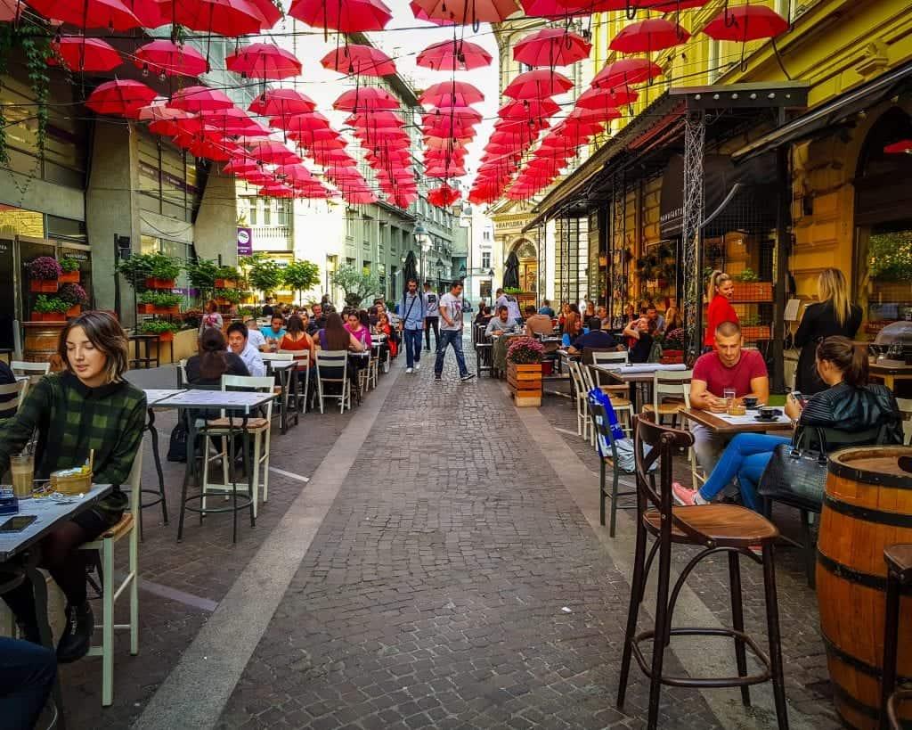 Serbia - Belgrade -Manufaktura Umbrellas Restaurant