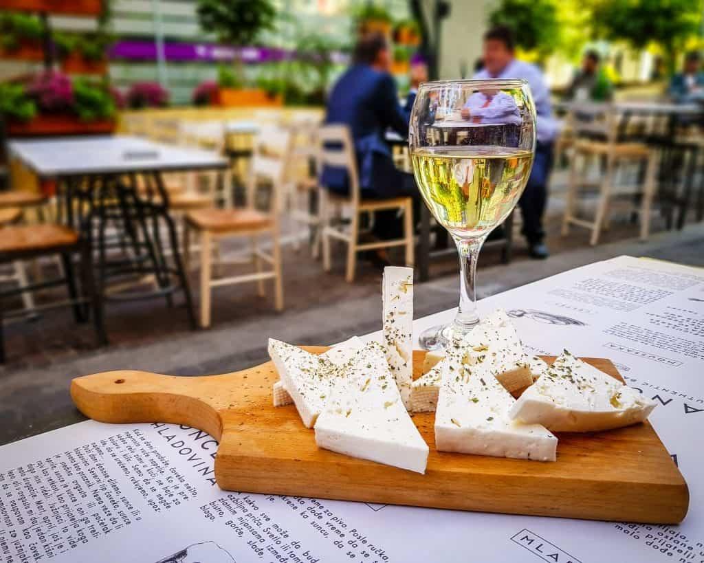 Serbia - Belgrade -Manufaktura Fruska Gora Cheese and Wine Serbian Food