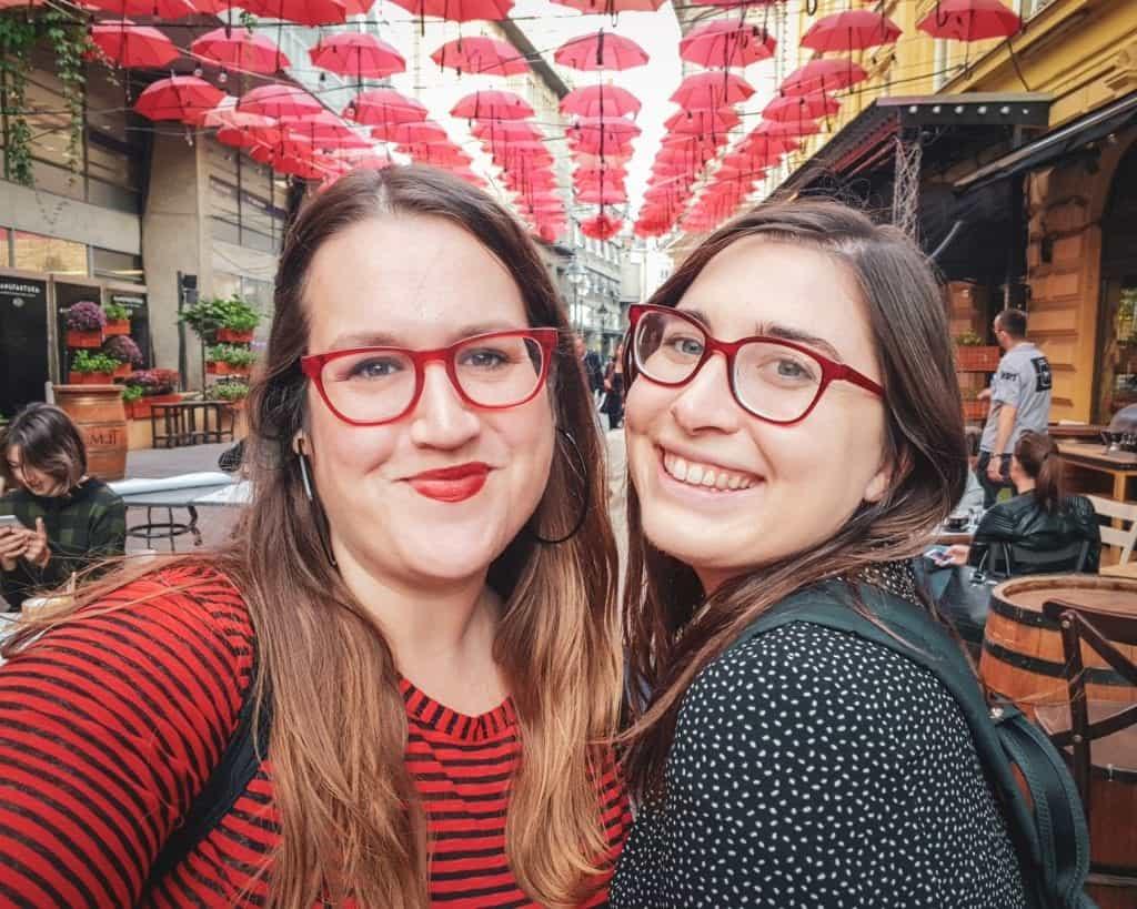 Serbia - Belgrade - Manufaktura Umbrella Selfie