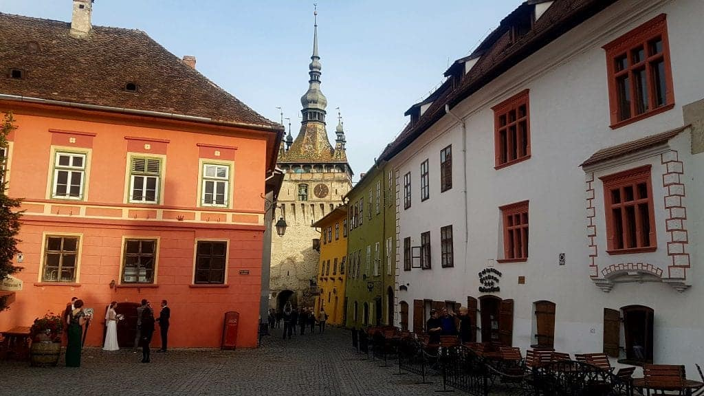 Sighisoara Main Square. Photo by Andra Padureanu. Reused with Permission.