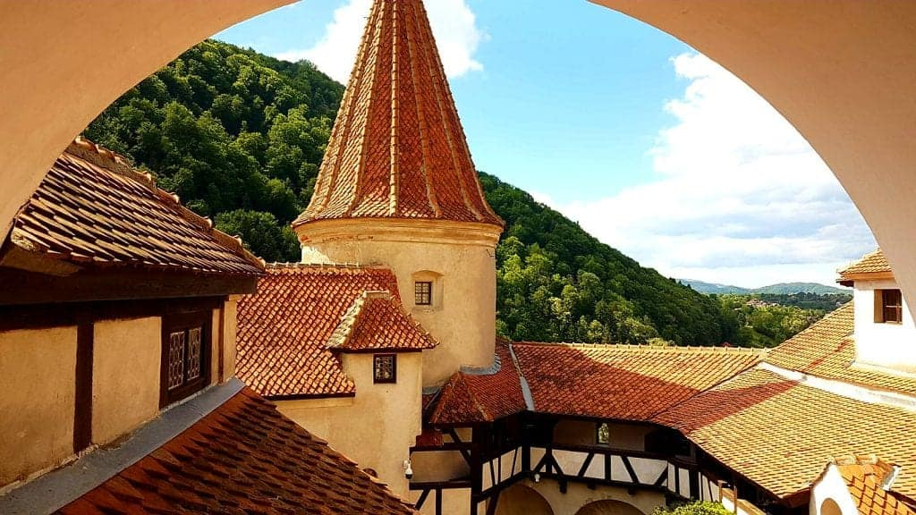 View from inside Bran Castle. Photo by Andra Padureanu. Reused with permission.