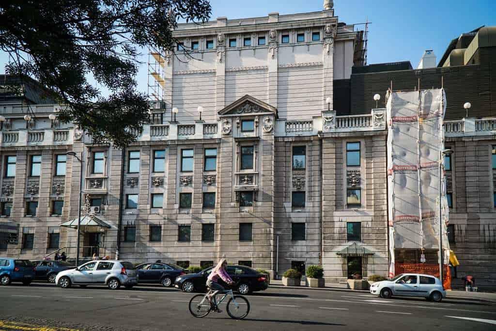 Serbia - Belgrade - National Theater Side