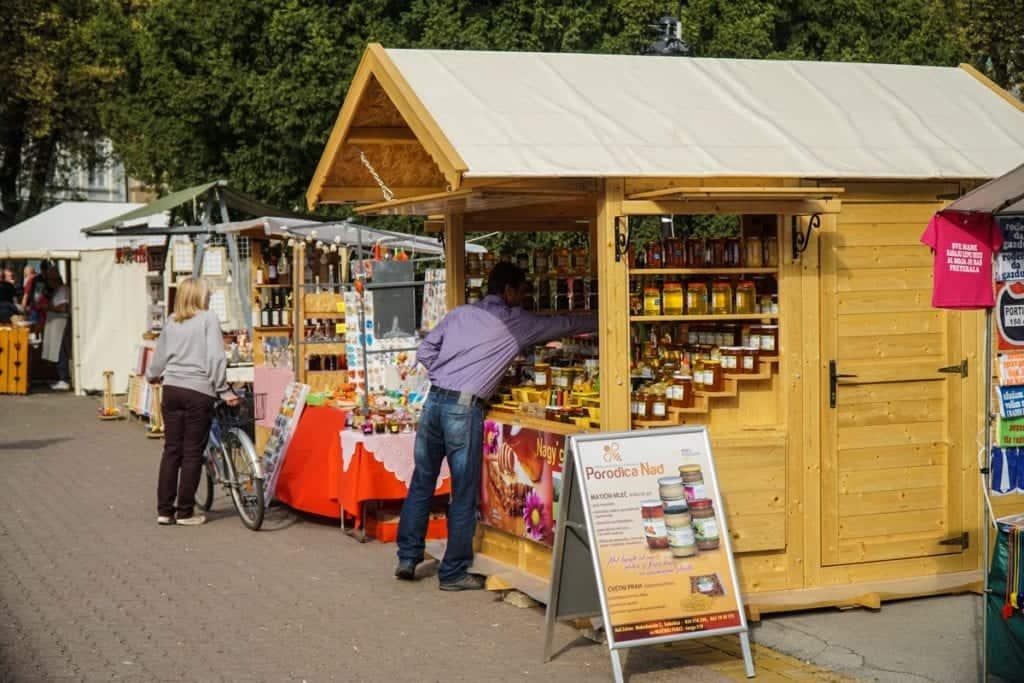 Serbia - Subotica - Open Air Market Souvenir Honey