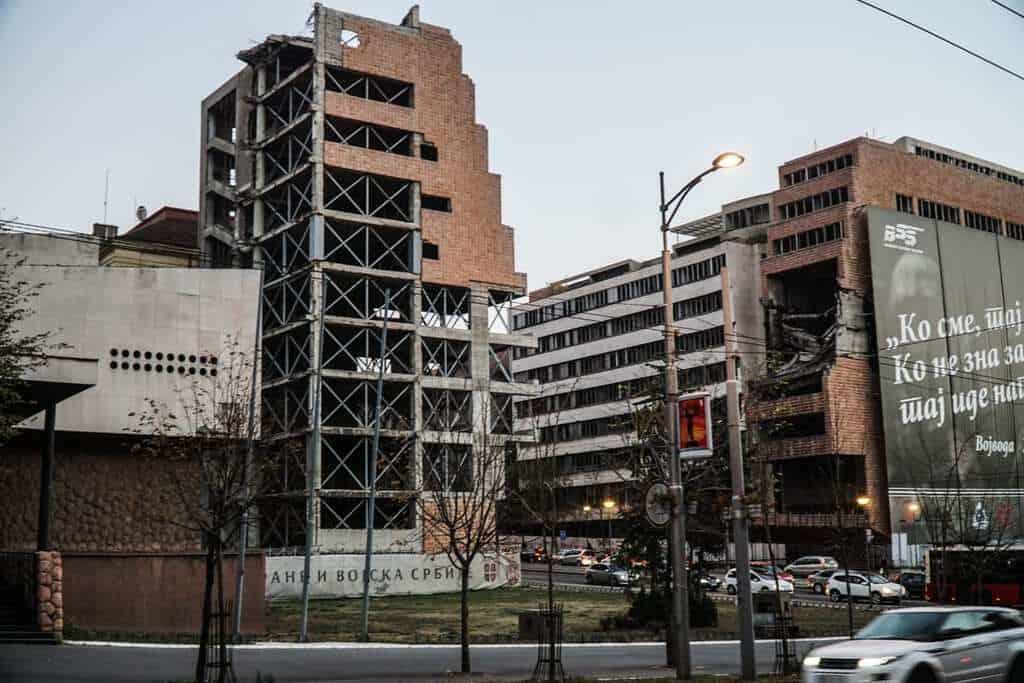 Serbia - Belgrade - Bombed Buildings
