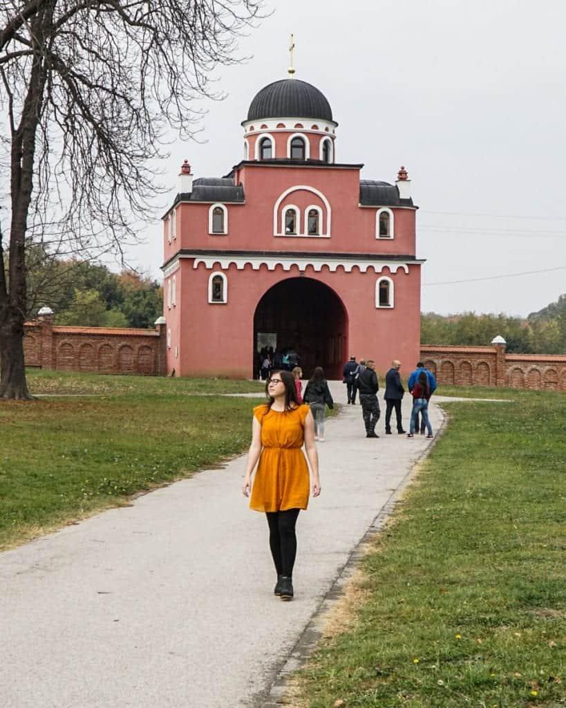Serbia - Fruska Gora - Krusedol gate selfie