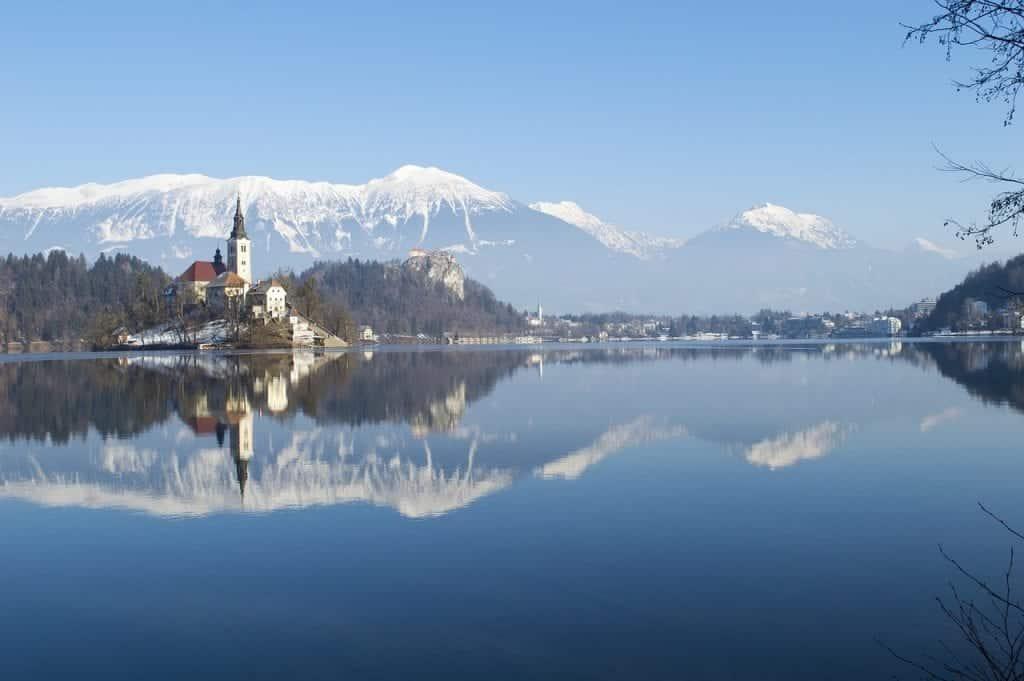 Slovenia - Lake Bled - Snow Winter Pixabay