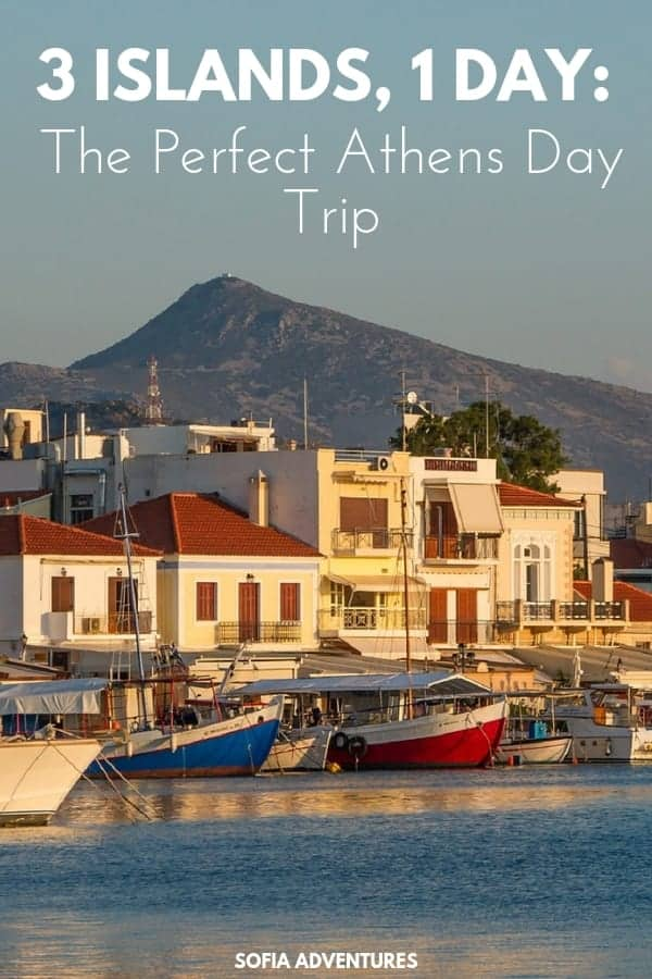 The perfect Athens day trip is visiting the 3 closest Greek islands to Athens in one day. Find out how to see Aegina, Hydra, and Poros all in 1 day from Athens!