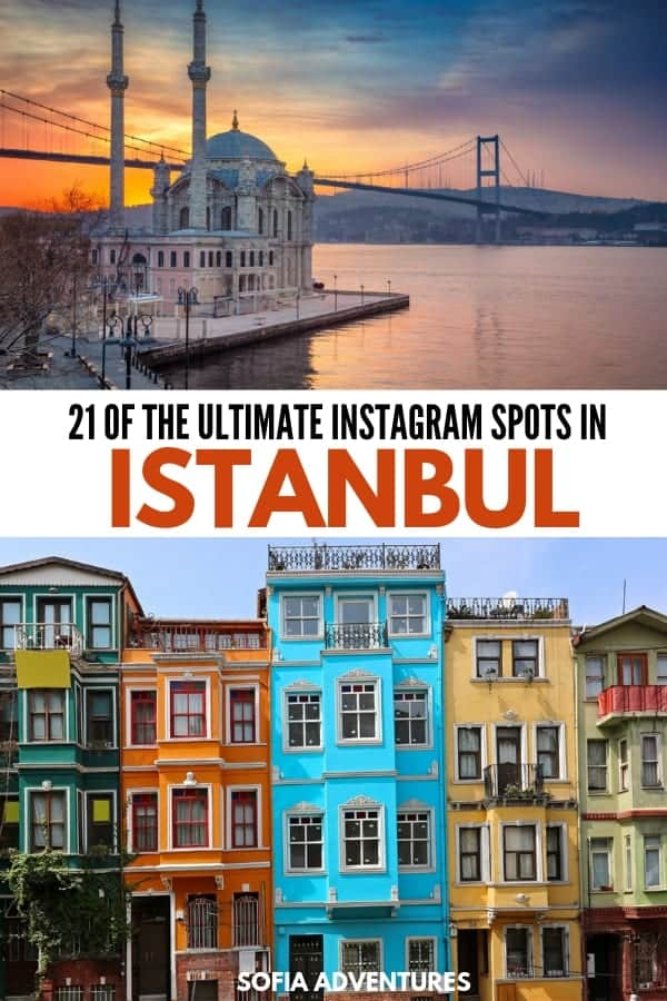 The ultimate guide to Instagramming Istanbul! This post has 21 perfect photo spots in Istanbul to help you find all the most Insta-worthy locations in Istanbul. From cute cafes to interesting off the beaten path Istanbul streets, you'll find plenty of beautiful Instagrammable places in Istanbul in this Istanbul Insta guide!