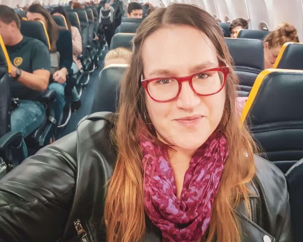 Bulgaria - Sofia - Airplane Selfie - Stephanie Sofia Airport
