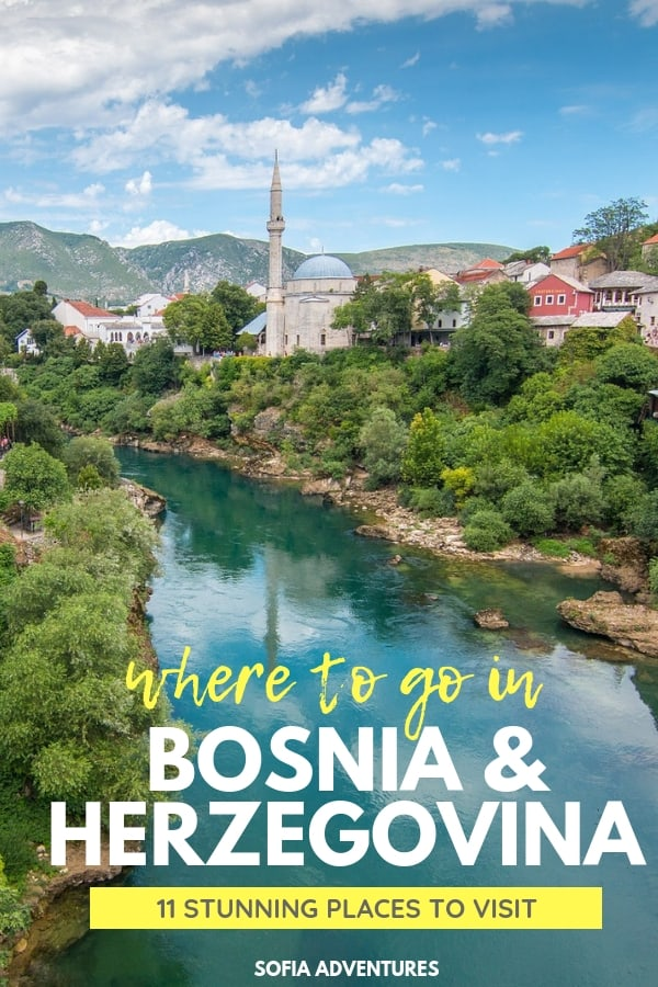 Top travel bloggers pick their favorite places to visit in Bosnia to help you plan the perfect Bosnia itinerary - from common Bosnia destinations like Mostar and Sarajevo to off the beaten path gems like Trebinje, Konjic, and Banja Luka to tiny villages like Lukomir and Olovo, this #Bosnia travel guide has something for everyone!