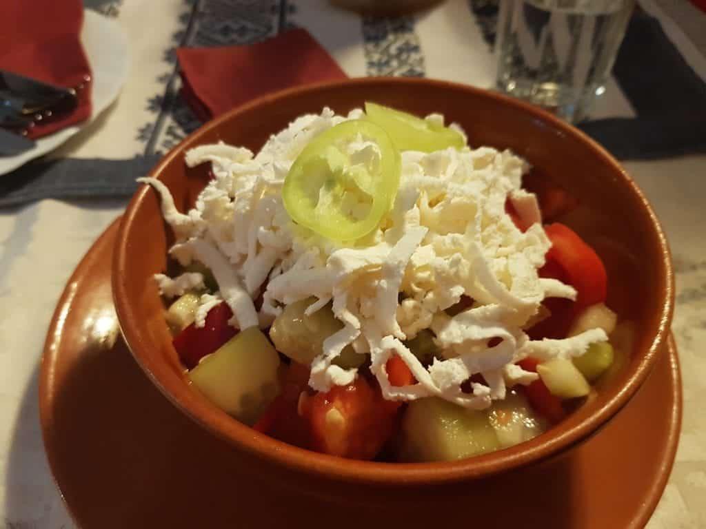 Serbia - Novi Sad - Shopska Salad