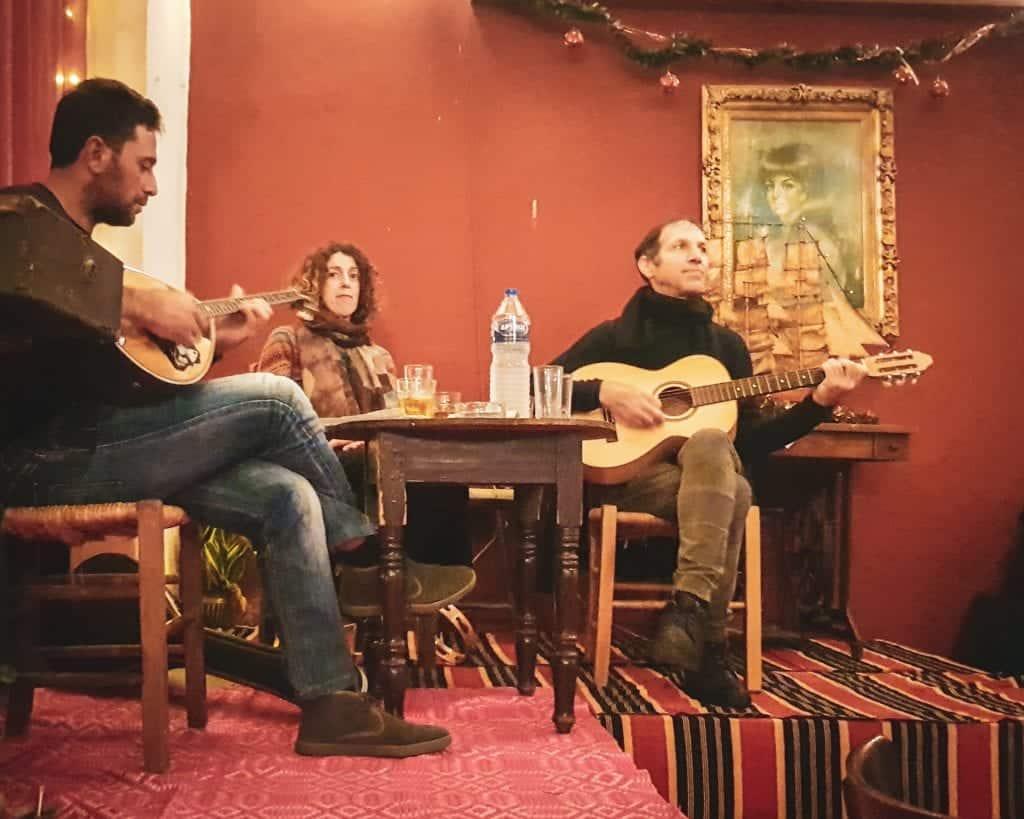 Greece - Heraklion - Restaurants Greek Food Crete Food Art Cafe Doukas Musicians