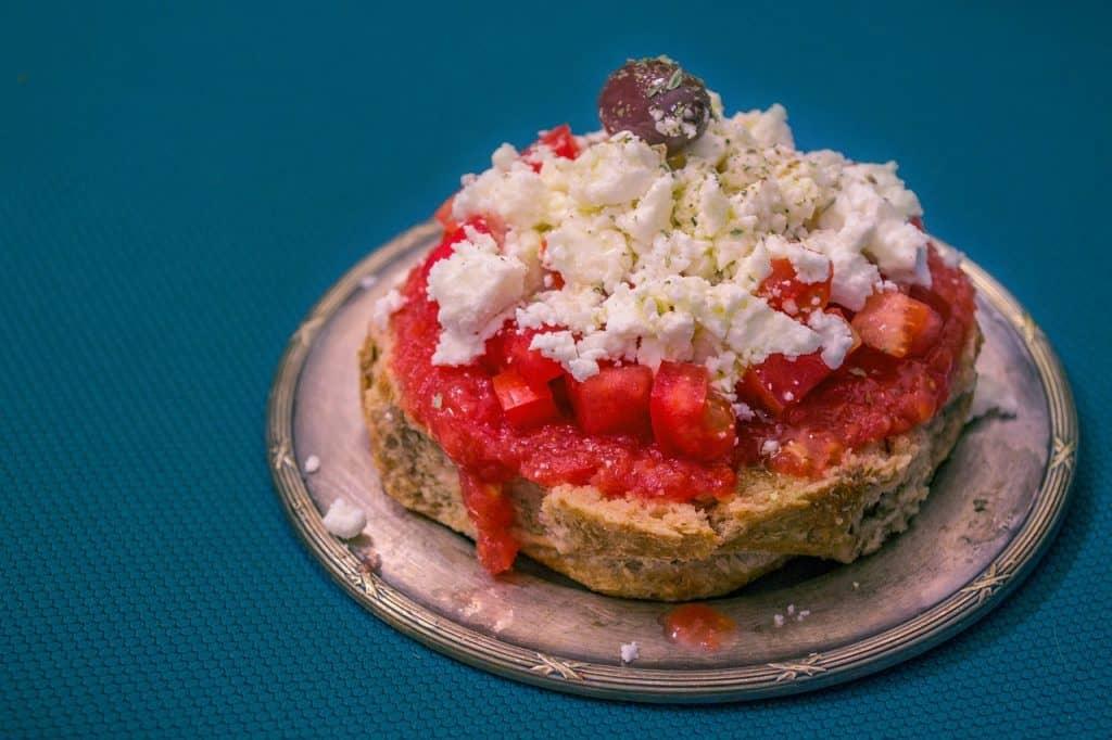 Crete - Greece - Dakos Greek food Pixabay