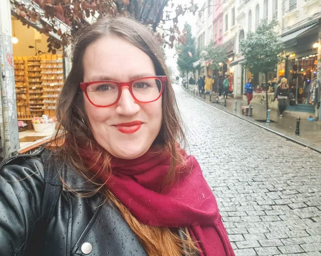 Turkey - Istanbul - Istanbul in Winter Snow Selfie Stephanie