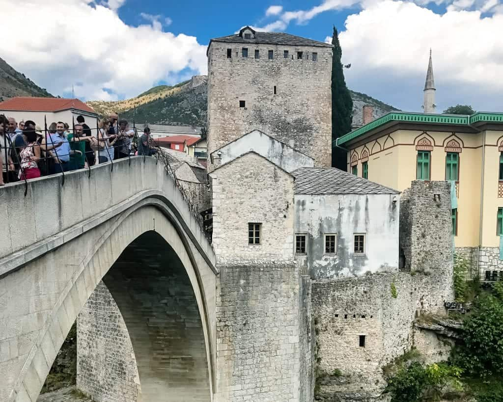 Bosnia - Mostar - Bridge from the Side