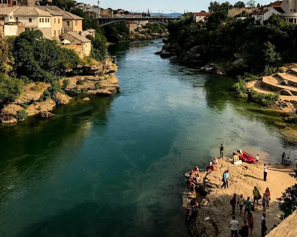 Bosnia - Mostar - View from the Bridge