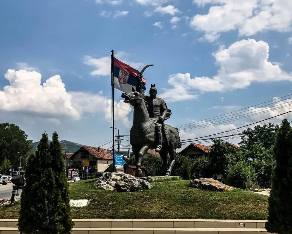 Kosovo - Gracanica - Milos Obilic Statue